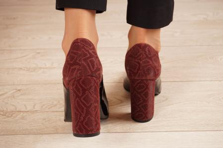 Pantofi dama din piele naturala lacuita neagra MSPD59619-20 [3]