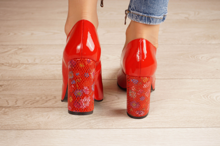 Pantofi dama din piele naturala lacuita rosie MSPD53719-4-20 [3]