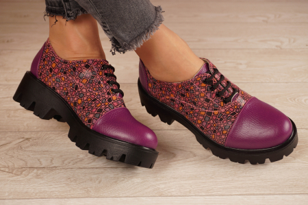 Pantofi dama din piele naturala mov MSPD58618-21 [1]