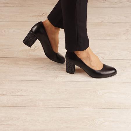 Pantofi dama din piele naturala neagra MSPD190-33-20 [0]