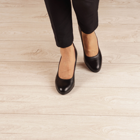 Pantofi dama din piele naturala neagra MSPD190-33-20 [2]