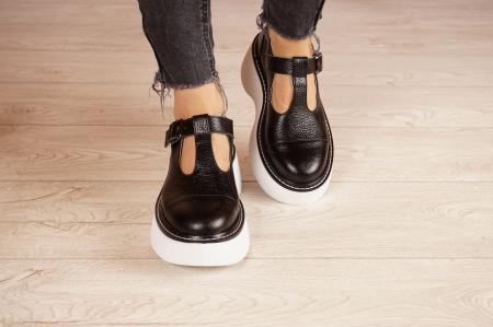 Pantofi dama din piele naturala neagra MSPD51821-21 [3]