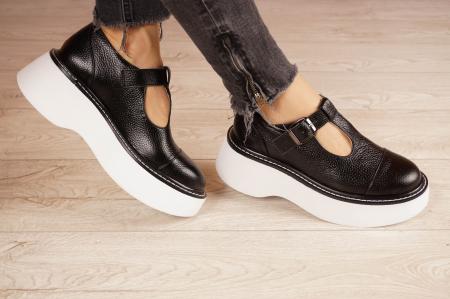 Pantofi dama din piele naturala neagra MSPD51821-21 [1]