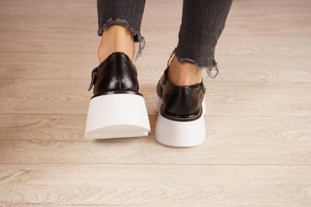 Pantofi dama din piele naturala neagra MSPD51821-21 [4]