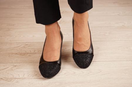 Pantofi dama din piele naturala neagra MSPD52519-1-20 [2]