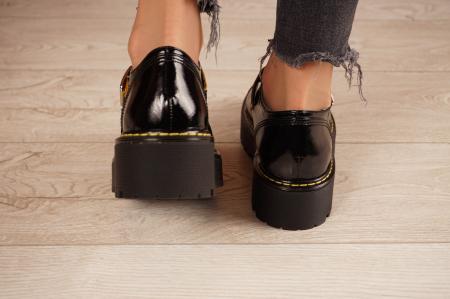 Pantofi dama din piele naturala neagra MSPD54821-21 [4]