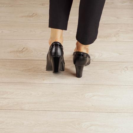 Pantofi dama din piele naturala neagra MSPD56719-1-20 [3]