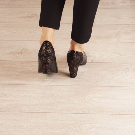 Pantofi dama din piele naturala neagra MSPD57019-1-20 [3]