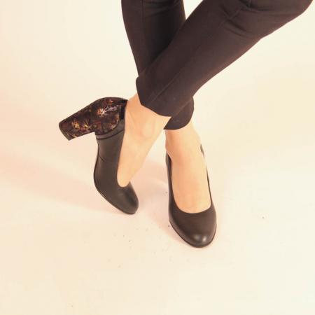 Pantofi dama din piele naturala neagra MSPD57019-20 [1]