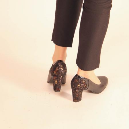 Pantofi dama din piele naturala neagra MSPD57019-20 [3]