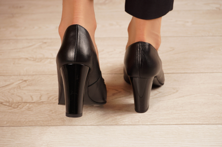 Pantofi dama din piele naturala neagra MSPD57220-1-20 [3]