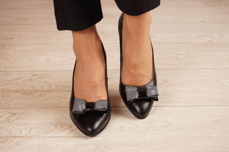 Pantofi dama din piele naturala neagra MSPD57220-1-20 [2]