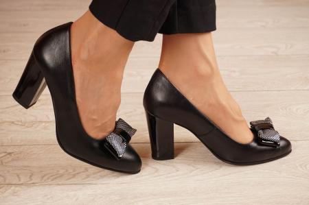 Pantofi dama din piele naturala neagra MSPD57220-1-20 [1]