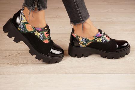 Pantofi dama din piele naturala neagra MSPD59820-20 [2]