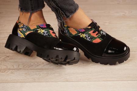 Pantofi dama din piele naturala neagra MSPD59820-20 [1]