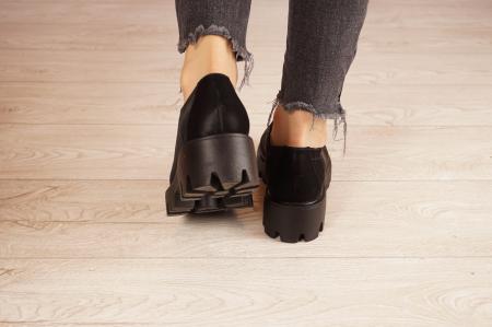 Pantofi dama din piele naturala neagra MSPD61420-21 [4]