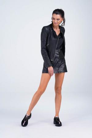 Pantofi dama din piele naturala neagra MSPD61420-21 [6]