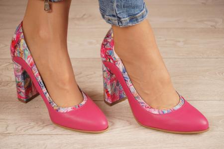 Pantofi dama din piele naturala fuxia MSPD56020-1-20 [0]