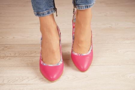 Pantofi dama din piele naturala fuxia MSPD56020-1-20 [2]