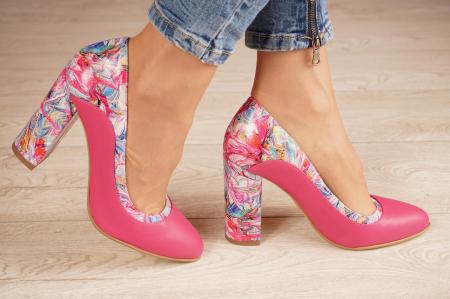 Pantofi dama din piele naturala fuxia MSPD56020-1-20 [1]