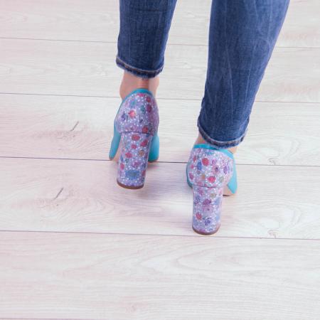 Pantofi dama din piele naturala turcoaz MSPD53018-20 [3]