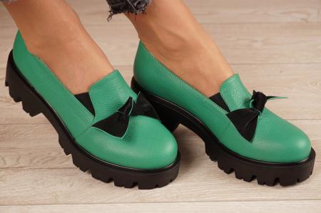 Pantofi dama din piele naturala verde MSPD57319-21 [0]