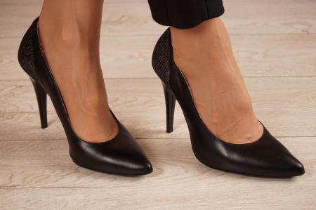 Pantofi dama stiletto din piele naturala lacuita MSPD50018-1-20 [0]
