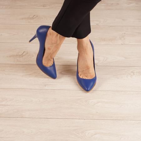 Pantofi dama din piele naturala albastru electric MSPD190-29-20 [1]