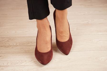 Pantofi dama stiletto din piele naturala cu imprimeu MSPD190-2-21 [2]