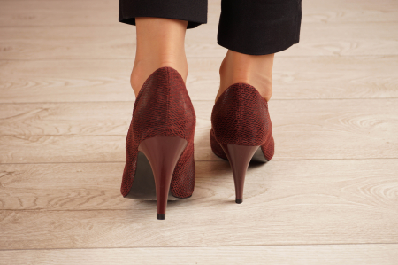 Pantofi dama stiletto din piele naturala cu imprimeu MSPD190-2-21 [3]