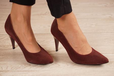 Pantofi dama stiletto din piele naturala cu imprimeu MSPD190-2-21 [0]