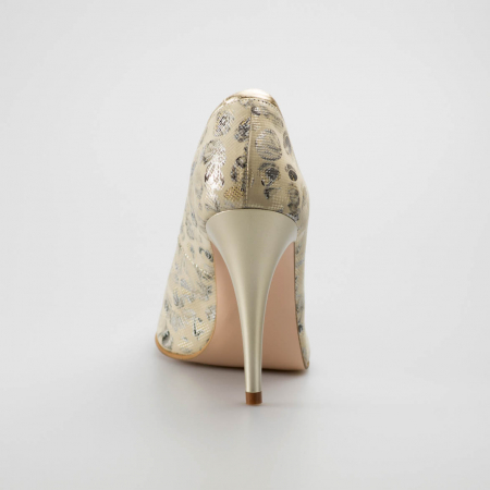 Pantofi dama din piele naturala cu imprimeu MSPD54619-19 [3]