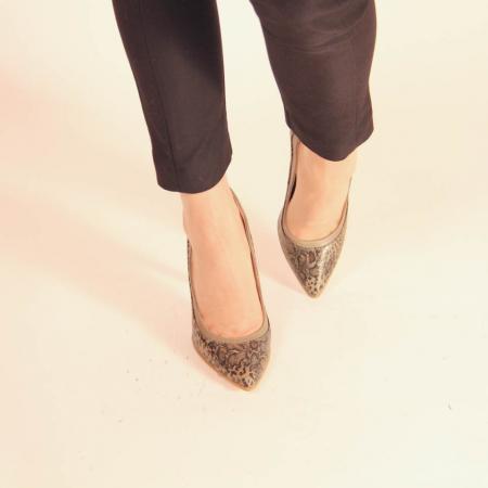 Pantofi dama din piele naturala cu imprimeu MSPD54619-20 [2]