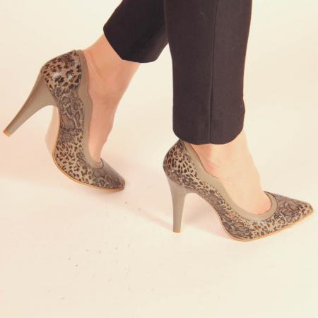 Pantofi dama din piele naturala cu imprimeu MSPD54619-20 [0]
