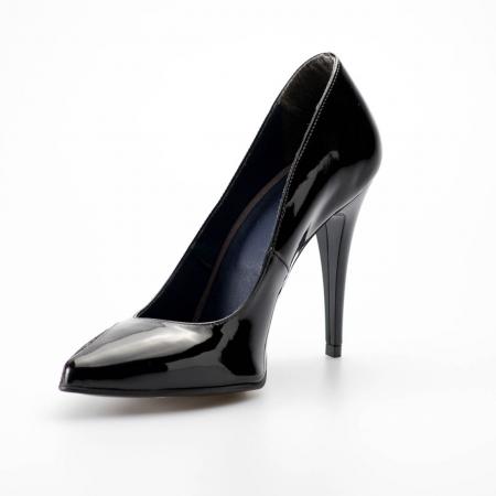 Pantofi dama din piele naturala lacuita MSPD51219-19 [2]