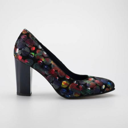 Pantofi dama din piele naturala cu imprimeu MSPD190-4-19 [0]