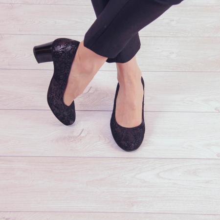 Pantofi dama din piele naturala cu imprimeu MSPD190-8-20 [1]