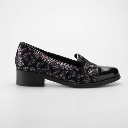 Pantofi dama din piele naturala cu imprimeu MSPD50918-190