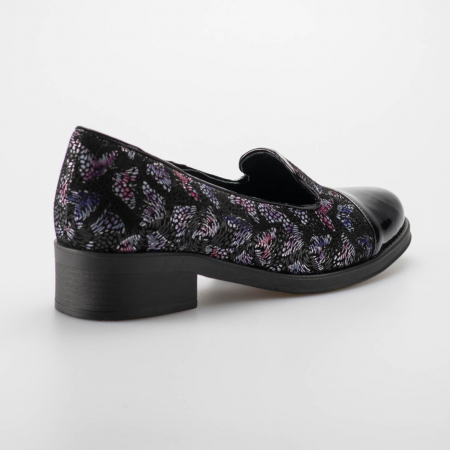 Pantofi dama din piele naturala cu imprimeu MSPD50918-191