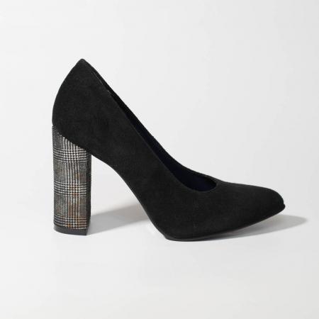Pantofi dama din piele naturala intoarsa MSPD190-25-19 [0]
