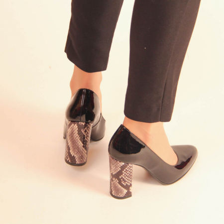 Pantofi dama din piele naturala lacuita neagra MSPD190-10-20 [3]