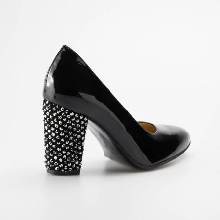 Pantofi dama din piele naturala lacuita neagra MSPD799-1-19 [1]