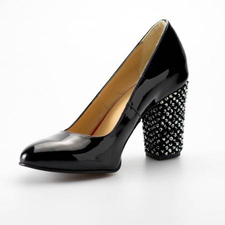 Pantofi dama din piele naturala lacuita neagra MSPD799-1-19 [2]