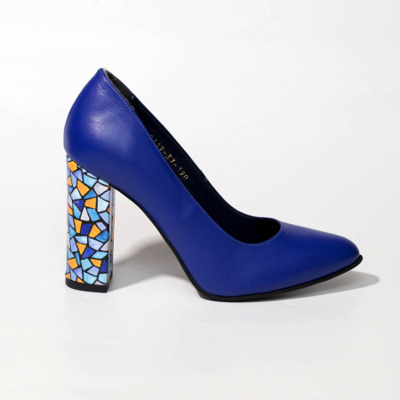 Pantofi dama din piele naturala albastra MSPD190-26-19 [0]