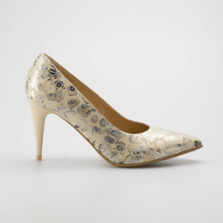 Pantofi dama din piele naturala cu imprimeu MSPD190-12-19 [0]