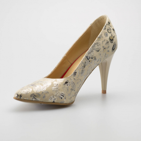 Pantofi dama din piele naturala cu imprimeu MSPD190-12-19 [2]