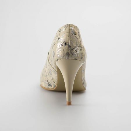 Pantofi dama din piele naturala cu imprimeu MSPD190-12-19 [3]