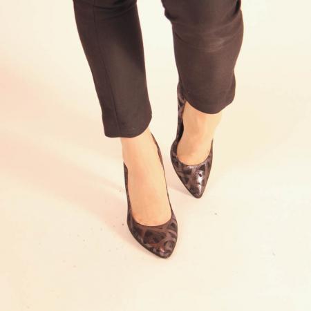 Pantofi dama din piele naturala cu imprimeu MSPD190-12-20 [2]