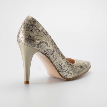 Pantofi dama din piele naturala cu imprimeu MSPD190-77-19 [1]