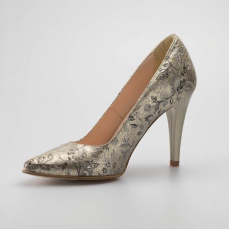 Pantofi dama din piele naturala cu imprimeu MSPD190-77-19 [2]